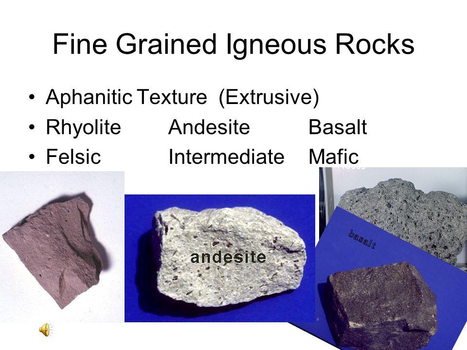TEXTURE OF IGNEOUS ROCKS PHANERITIC: Intrusive, coarse grained.