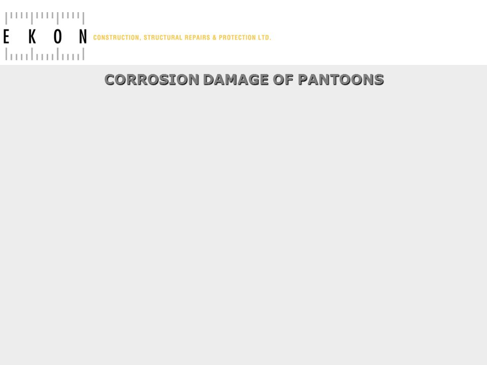 CORROSION DAMAGE OF PANTOONS