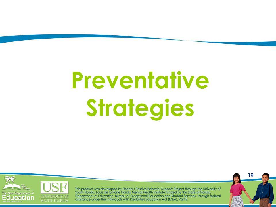 10 Preventative Strategies