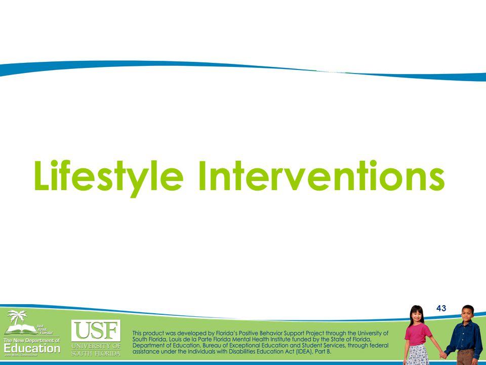 43 Lifestyle Interventions