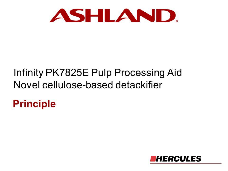 Infinity PK7825E Pulp Processing Aid Novel cellulose-based detackifier Principle