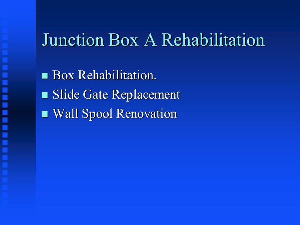 Junction Box A Rehabilitation n Box Rehabilitation.