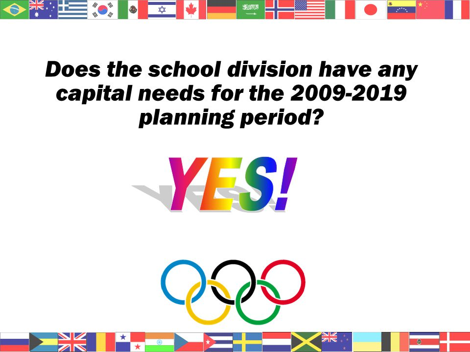 Does the school division have any capital needs for the 2009-2019 planning period