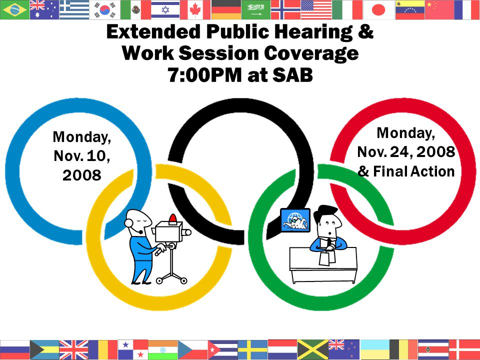 Extended Public Hearing & Work Session Coverage 7:00PM at SAB Monday, Nov.