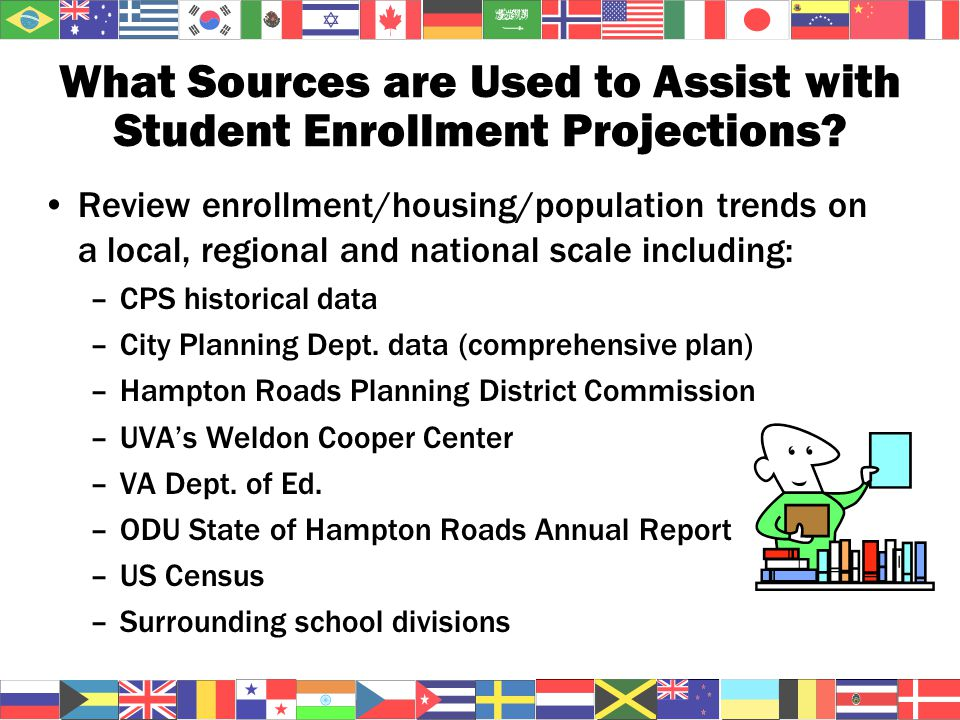 What Sources are Used to Assist with Student Enrollment Projections.
