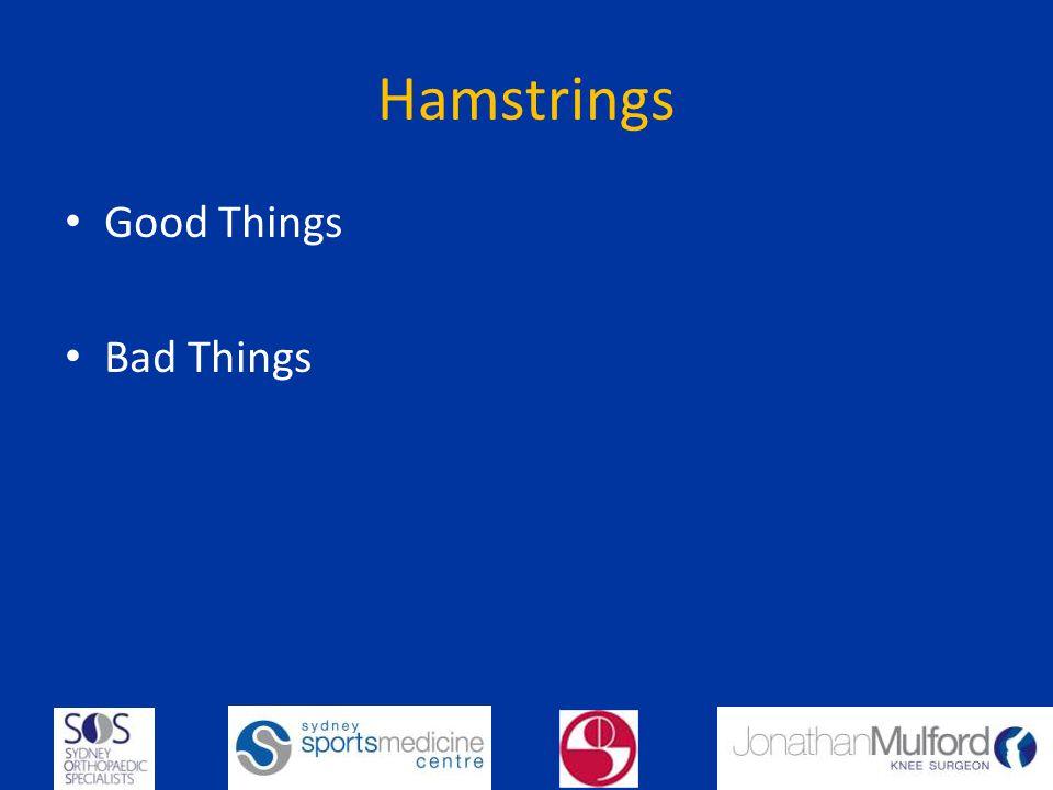 Hamstrings Good Things Bad Things
