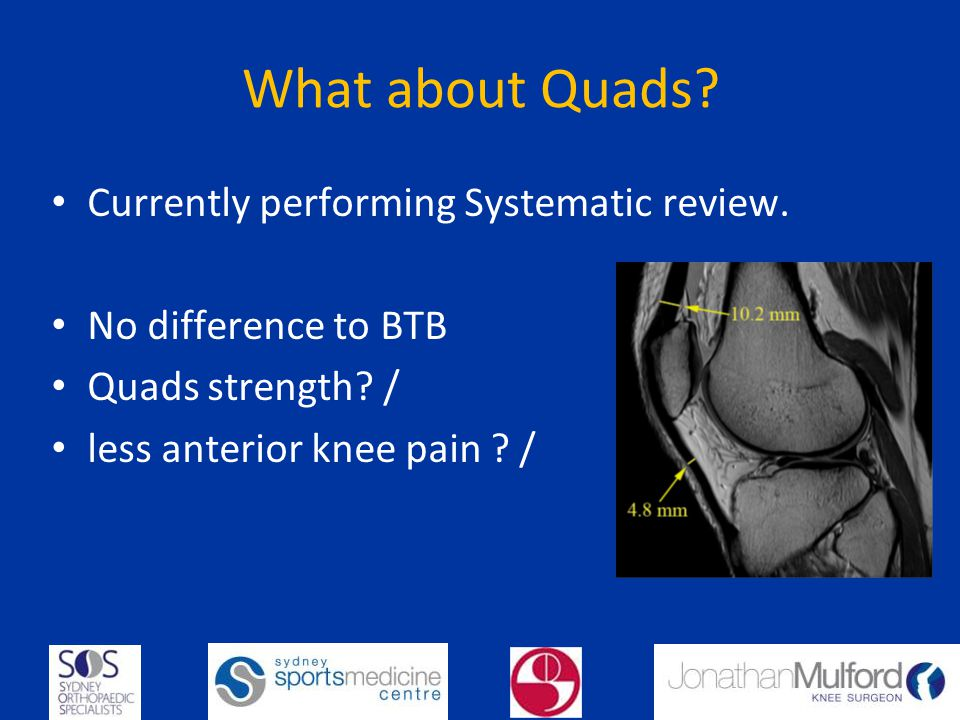 What about Quads.Currently performing Systematic review.