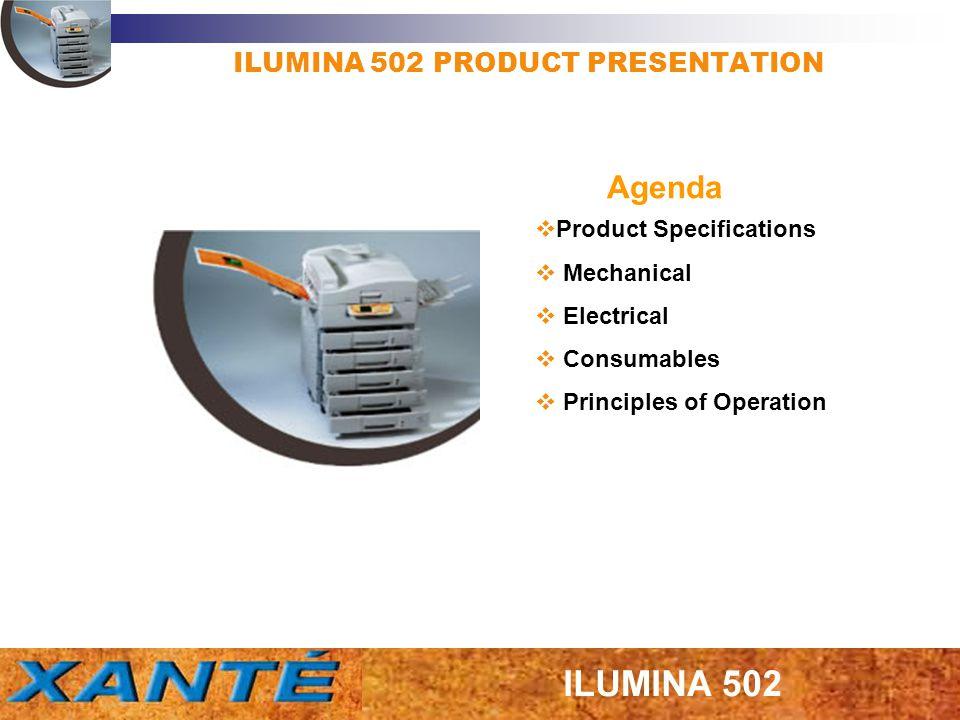 ILUMINA 502 PRODUCT PRESENTATION Product Specifications