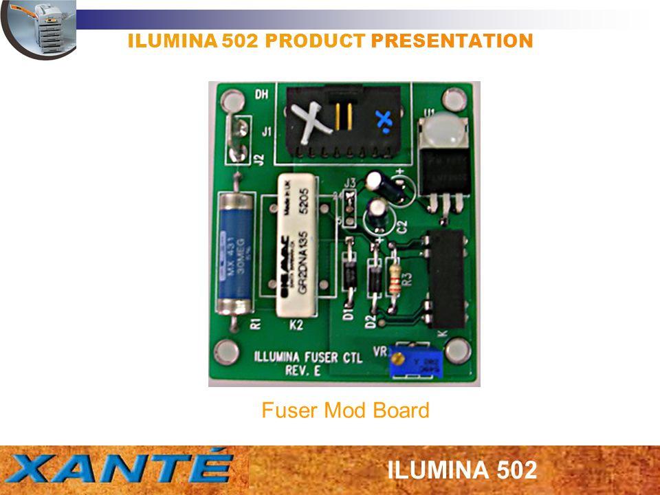 ILUMINA 502 PRODUCT PRESENTATION Fuser Mod Board