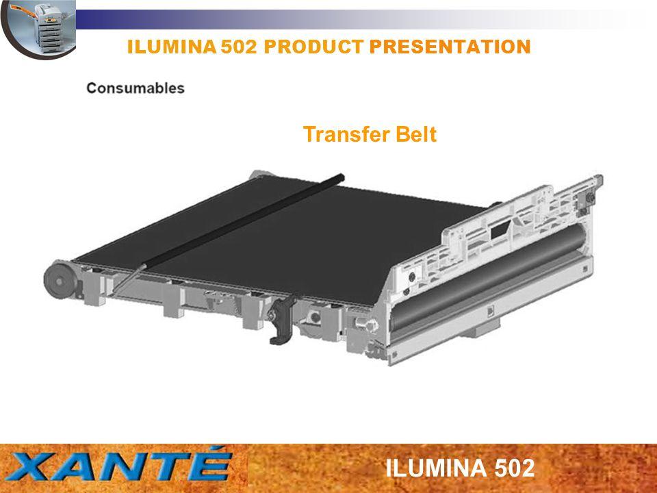 ILUMINA 502 PRODUCT PRESENTATION Transfer Belt