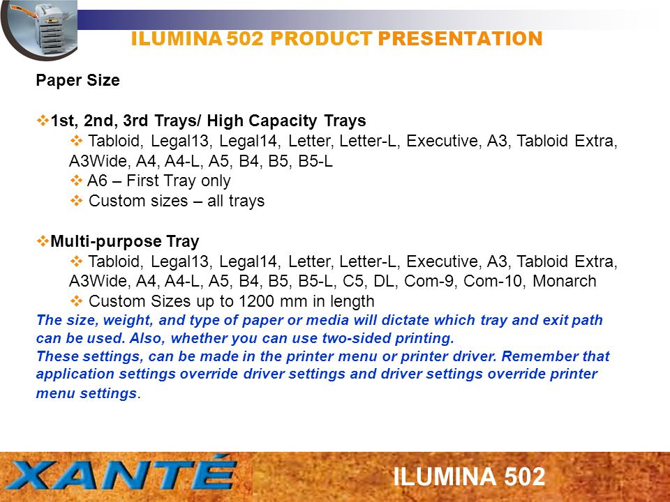 ILUMINA 502 PRODUCT PRESENTATION 1.Warm-up time has been reduced by the addition of two lamps in the upper roller and by reducing the diameter of the lower roller.