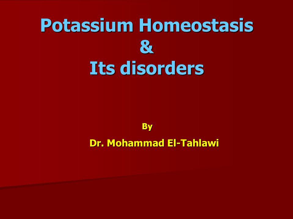 Intercompartmental shift of Potassium 1- Extracellular pH.