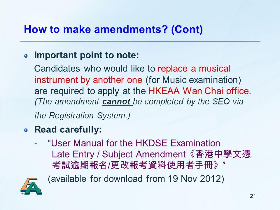 21 How to make amendments.