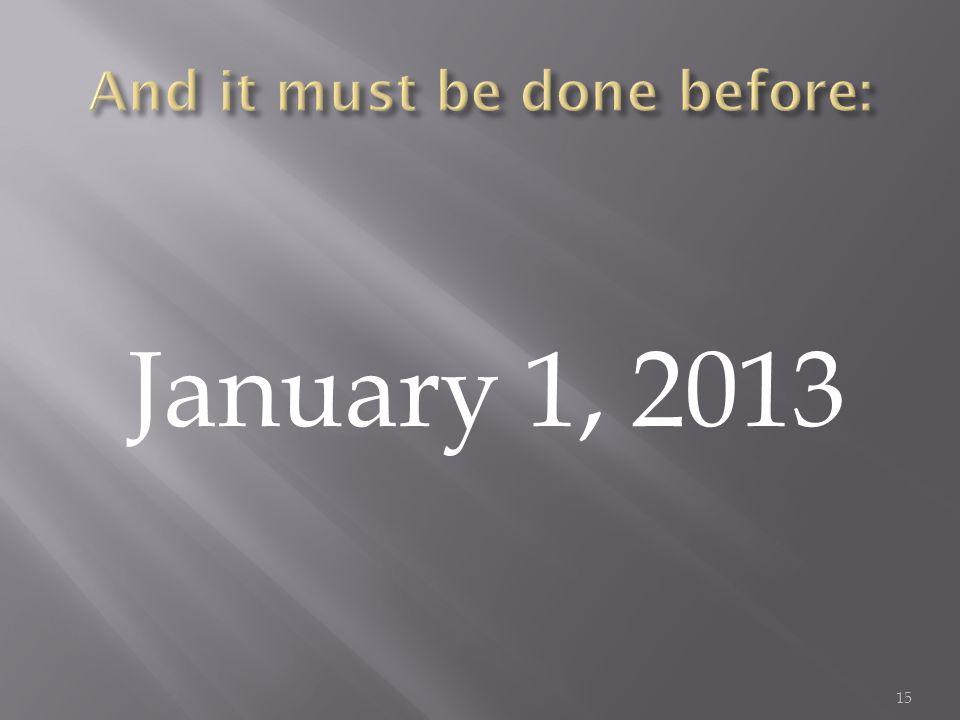 January 1, 2013 15