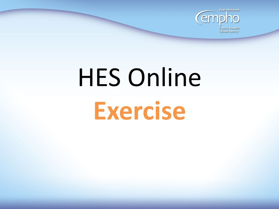 HES Online Exercise