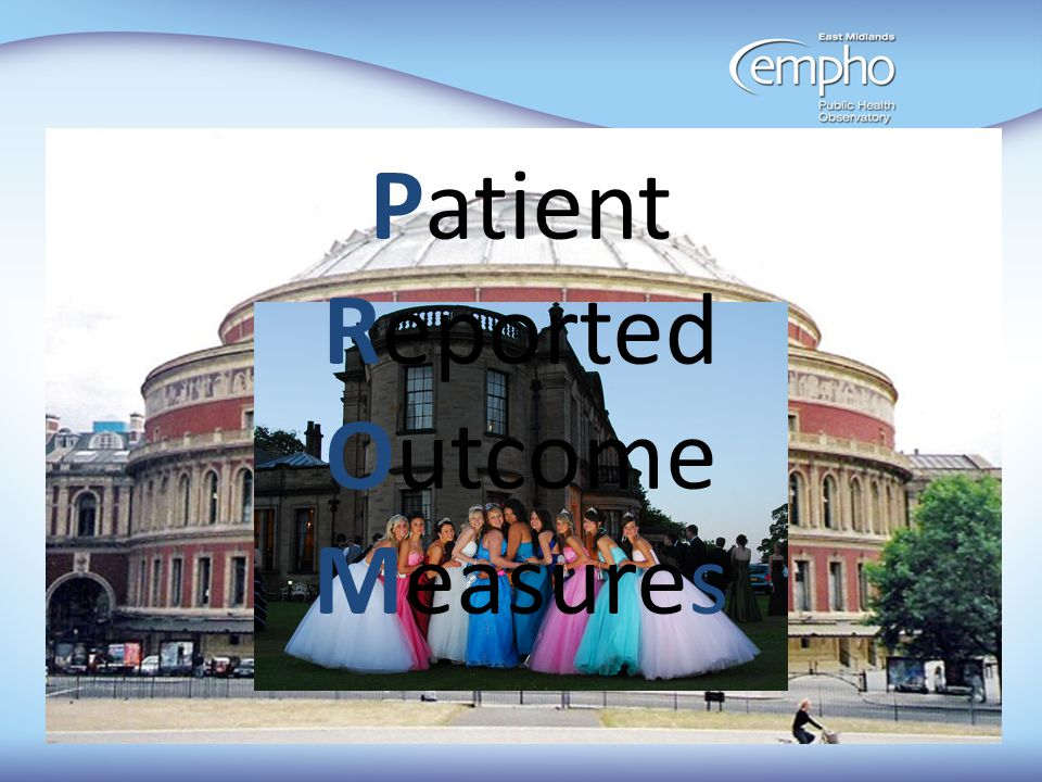 PROMS Patient Reported Outcome Measures