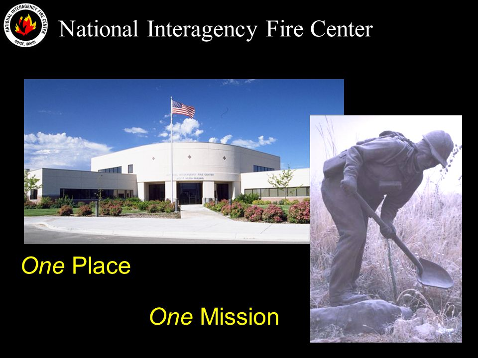 National Interagency Fire Center History 1965: Joint BLM-FS Coordination Center established near Julia Davis Park 1968: Construction of Boise Interagency Fire Center at airport with Weather Service 1970s: BIFC becomes interagency 1993: Name changed officially to NIFC