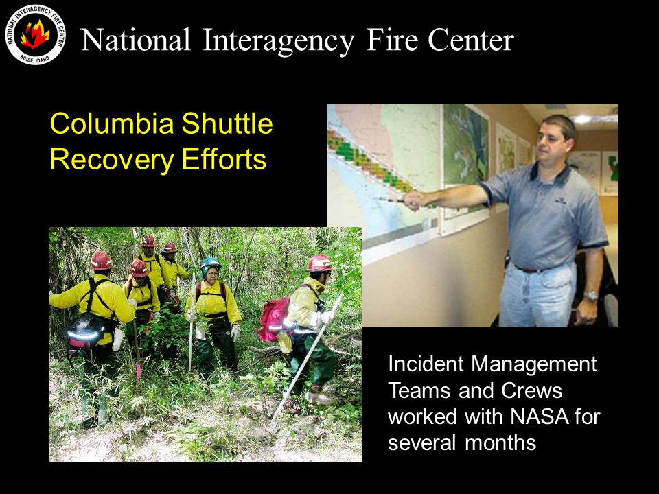 National Interagency Fire Center Questions?