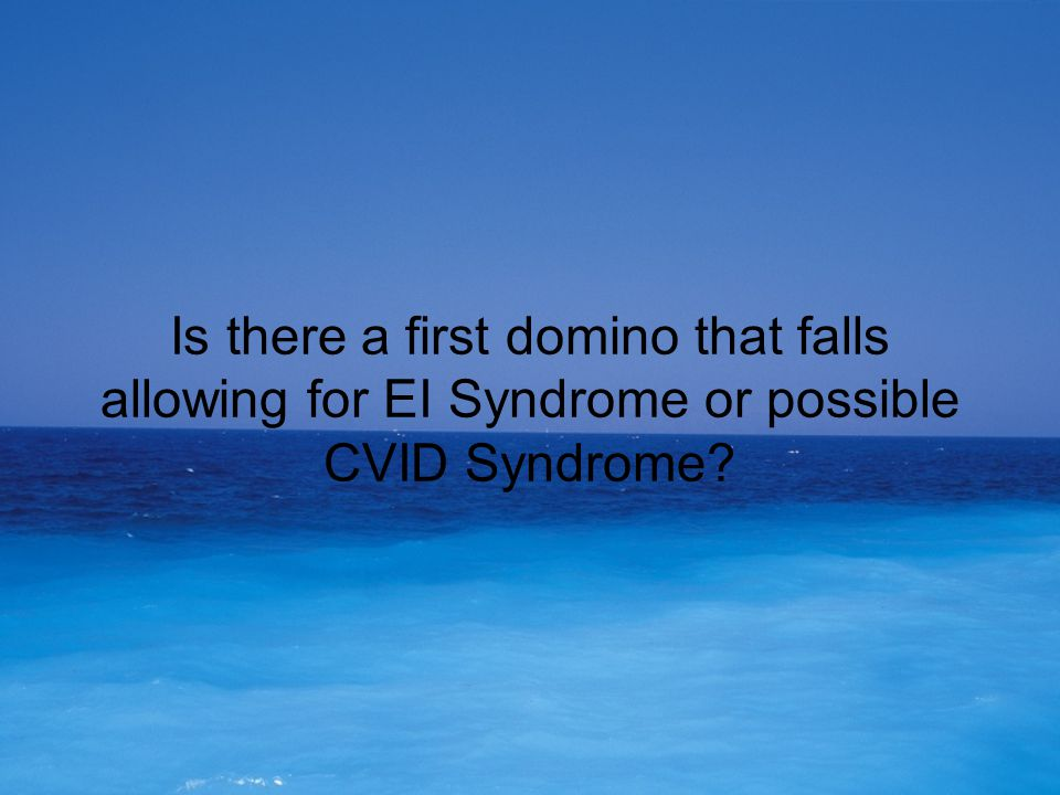 In animals, the 1st domino to fall is Cortisol.