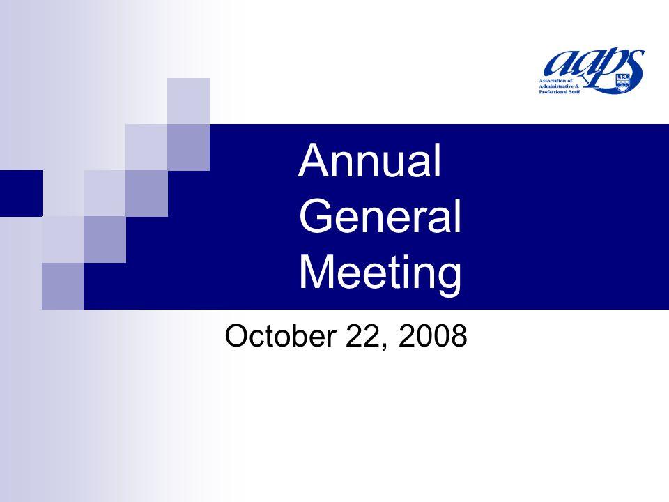 Annual General Meeting October 22, 2008