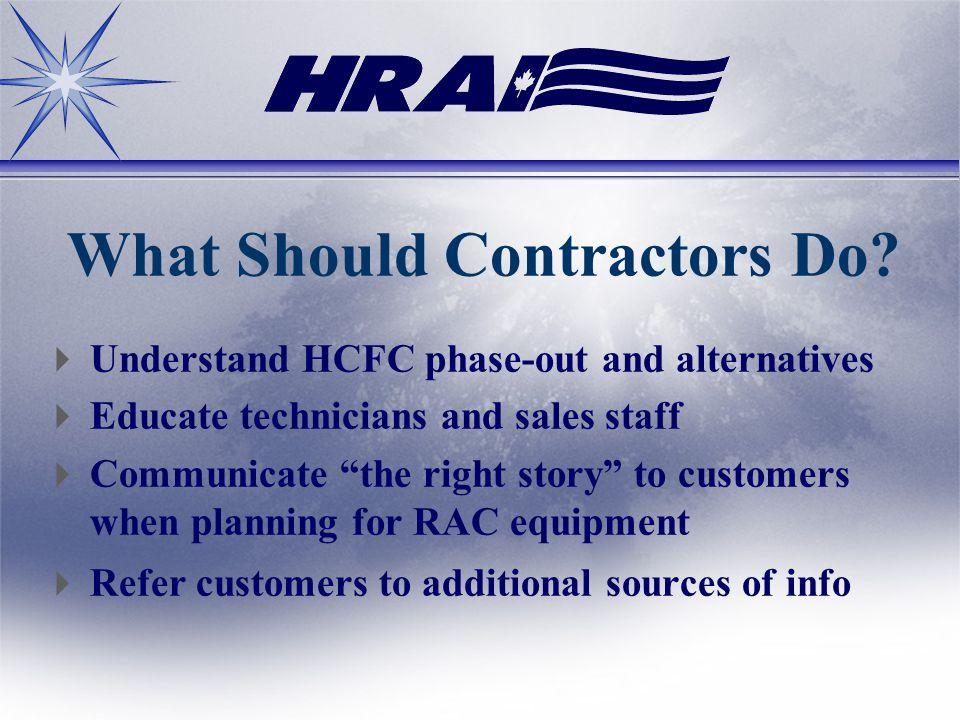 What Should Contractors Do.