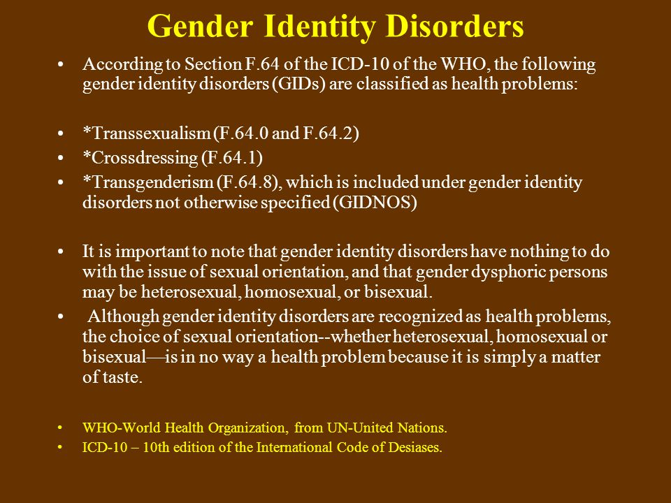 Conclusion *To the psychologist or psychiatrist, the sexologist or other analyst of GID cases: do you want to learn how to deal with these cases, but you are not personally gender dysphoric.