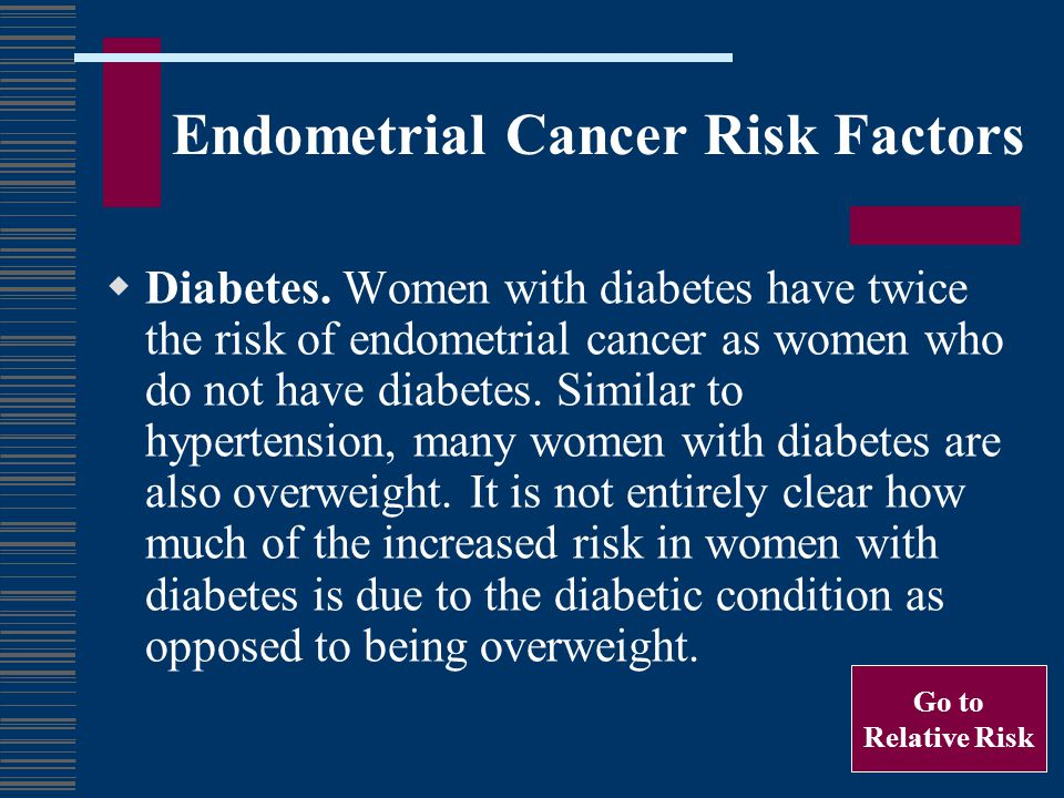 Endometrial Cancer Risk Factors Late menopause.