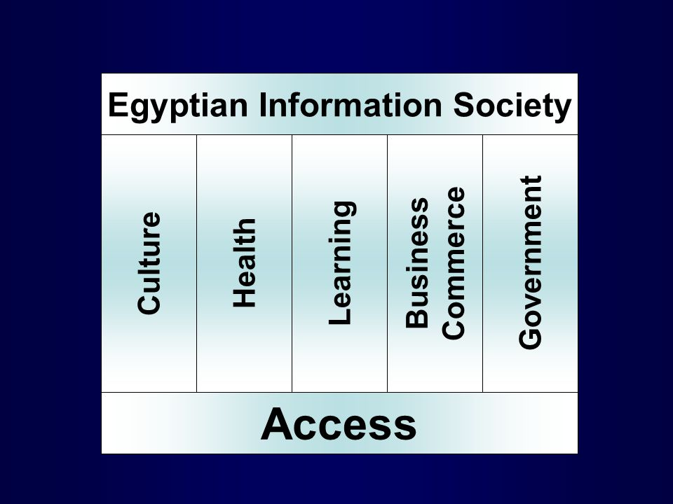 Access HealthLearning Business Commerce Culture Egyptian Information Society Government