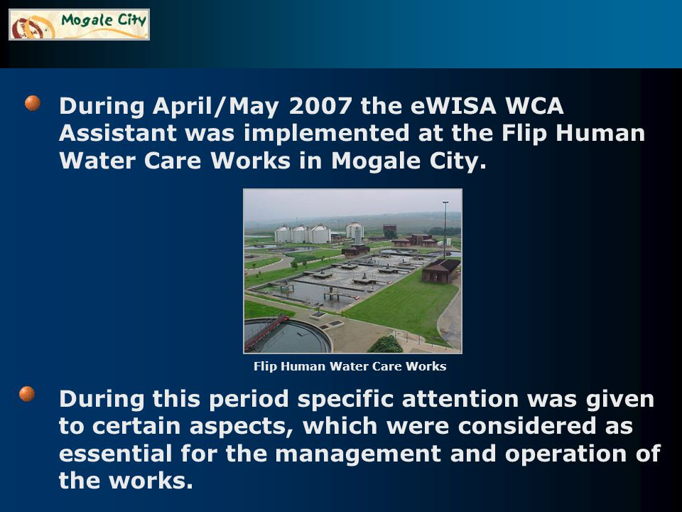 Water quality data.Monitoring data since 2003 were imported into the system.