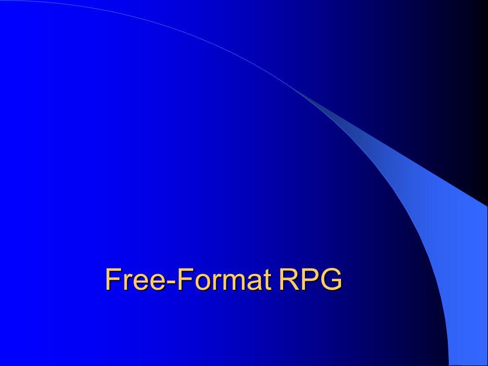Free-Format RPG