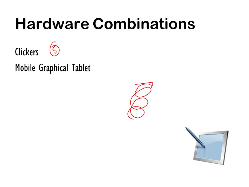 Hardware Combinations Clickers Mobile Graphical Tablet