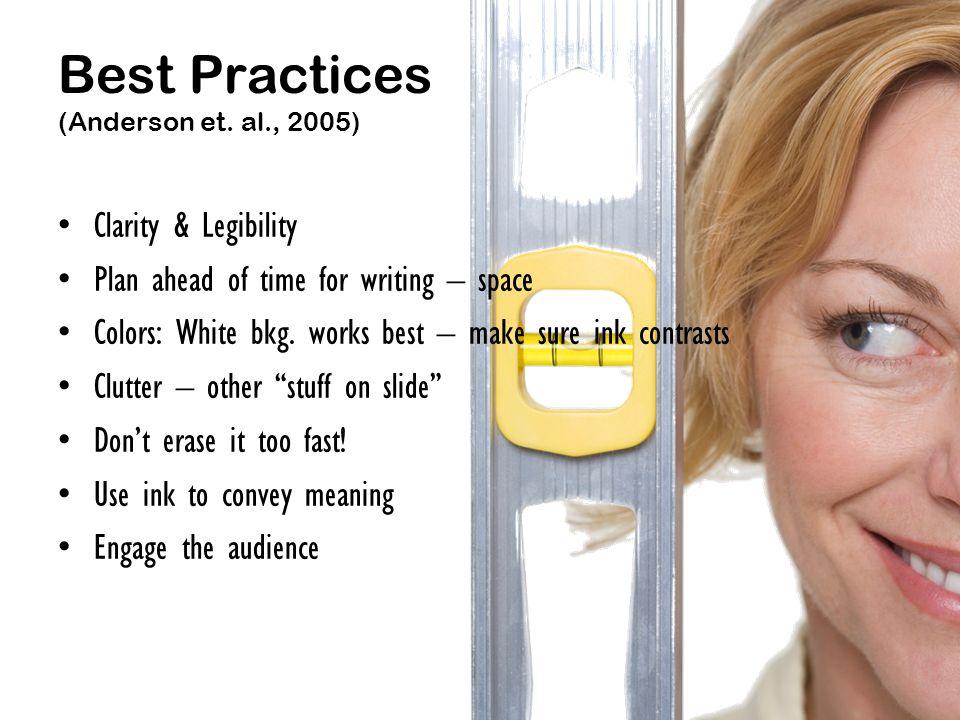 Best Practices (Anderson et.