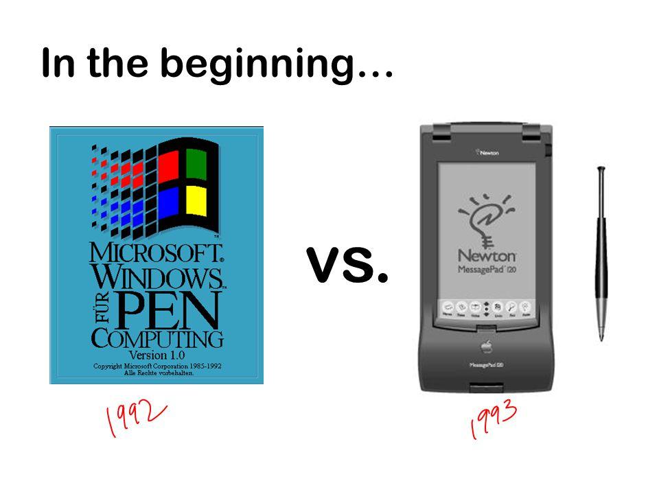 In the beginning… vs.