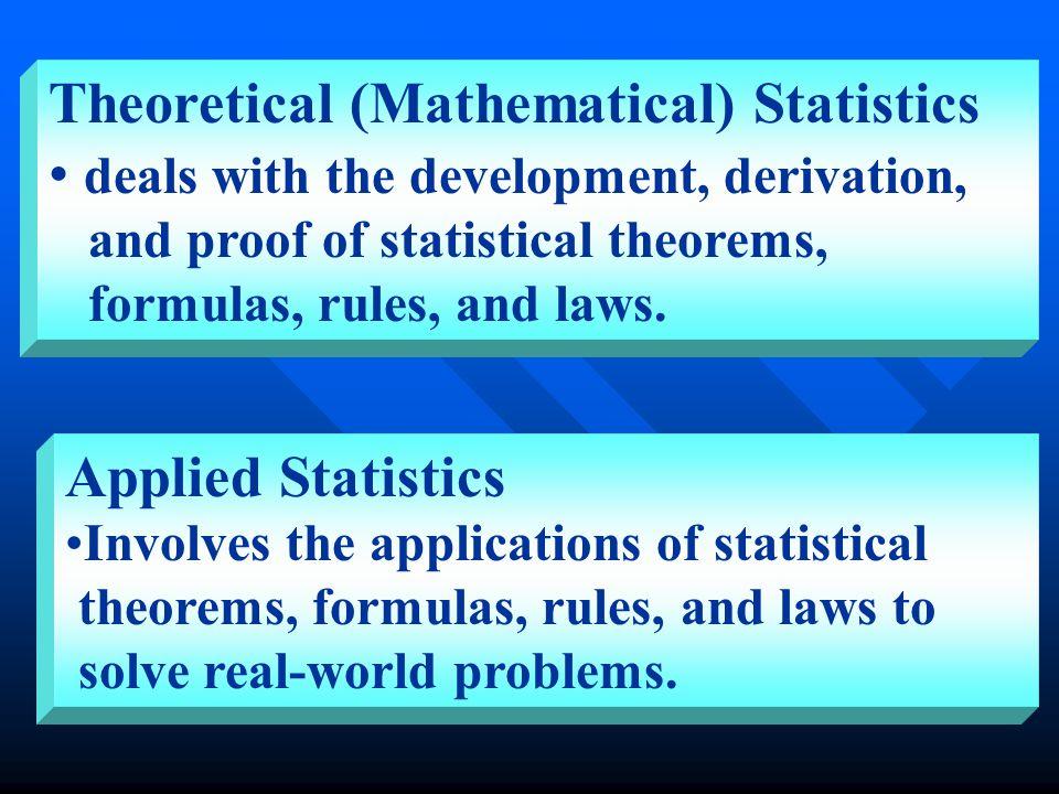 APPLIED STATISTICS Collection Presentation Interpretation Analysis