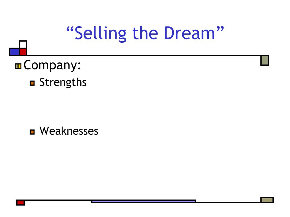 Company: Strengths Weaknesses