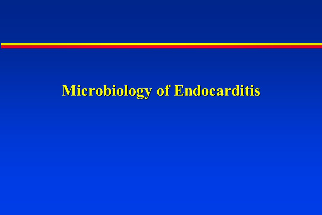 Microbiology of Endocarditis