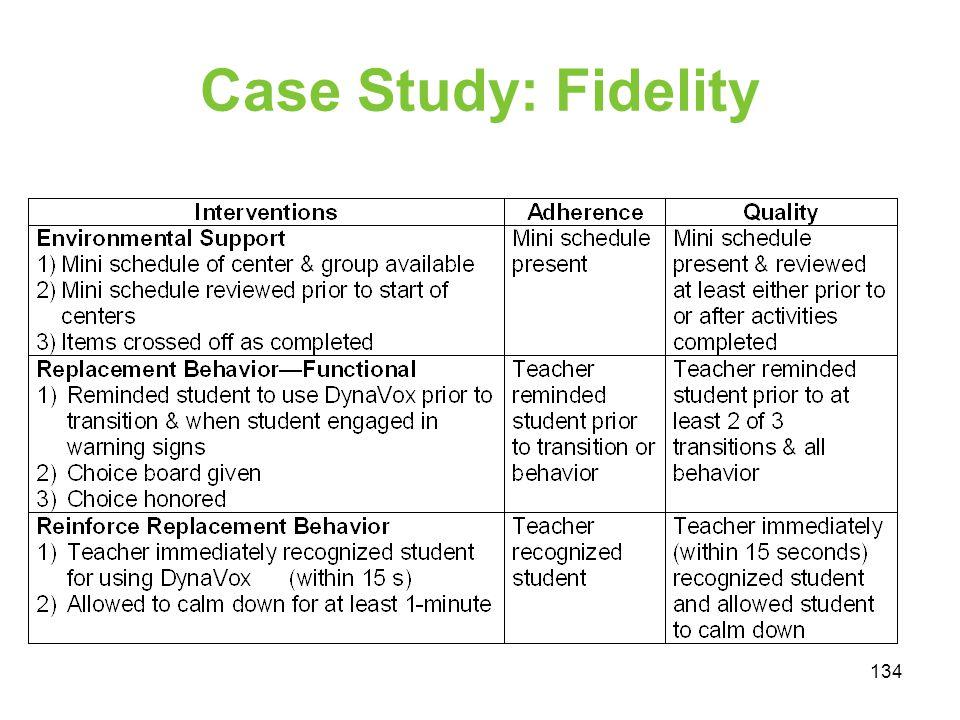Case Study: Fidelity 134
