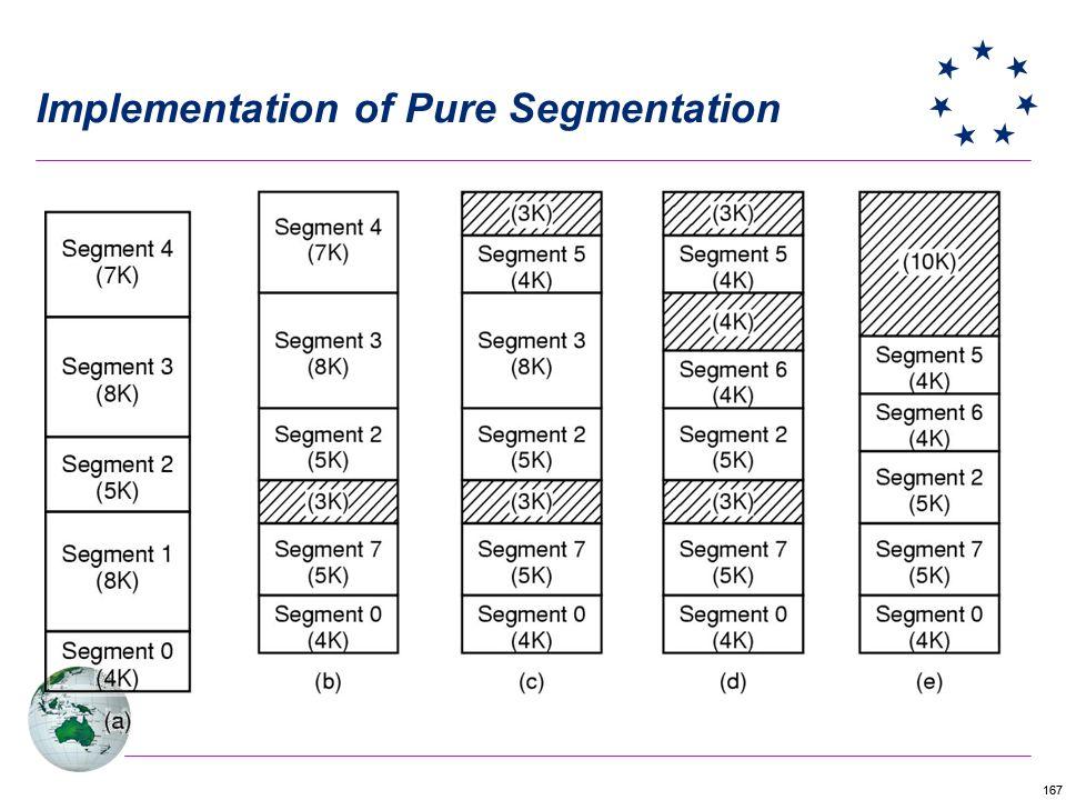 167 Implementation of Pure Segmentation