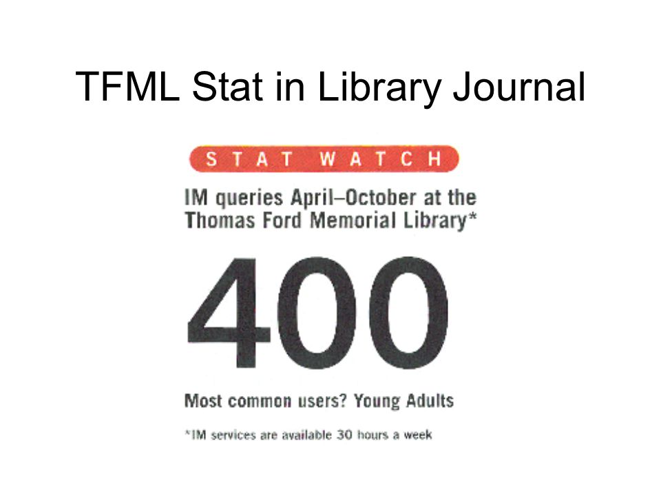 TFML Stat in Library Journal