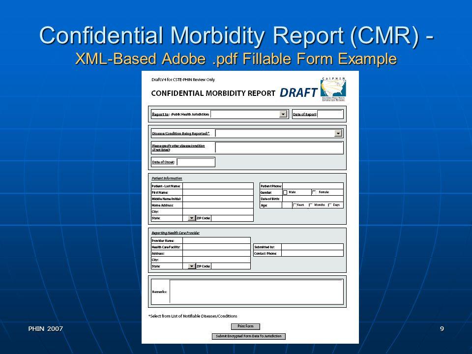 PHIN 200720 Binding to an HL7 CDA Document An HL7 Clinical Document is an XML document.