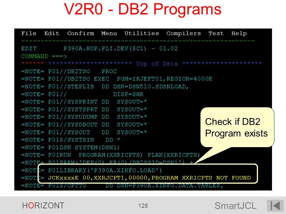 SmartJCL HORIZONT 125 File Edit Confirm Menu Utilities Compilers Test Help ------------------------------------------------------------- EDIT P390A.HU