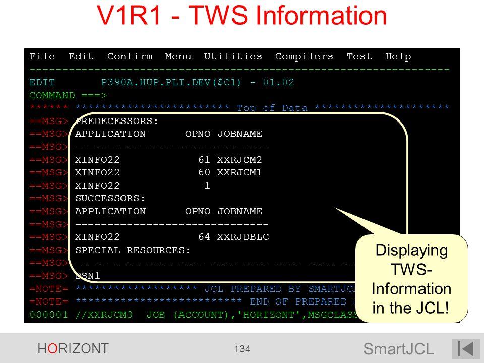 SmartJCL HORIZONT 134 File Edit Confirm Menu Utilities Compilers Test Help ----------------------------------------------------------------- EDIT P390