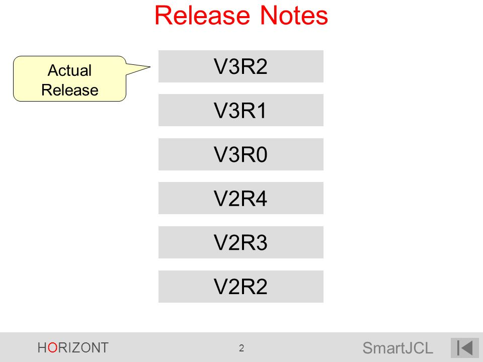 SmartJCL HORIZONT 103 V2R1 – Remote Check Simplifies checking JCL from the test system against the production libraries on the production system.