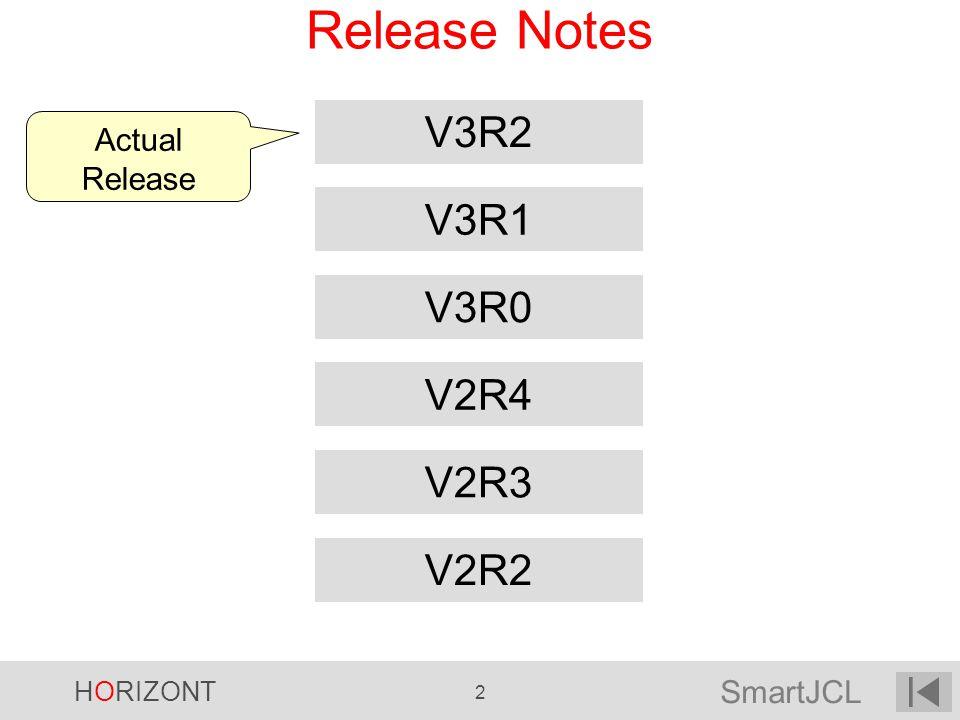 HORIZONT 2 Release Notes Actual Release V2R2 V2R3 V3R0 V2R4 V3R1 V3R2