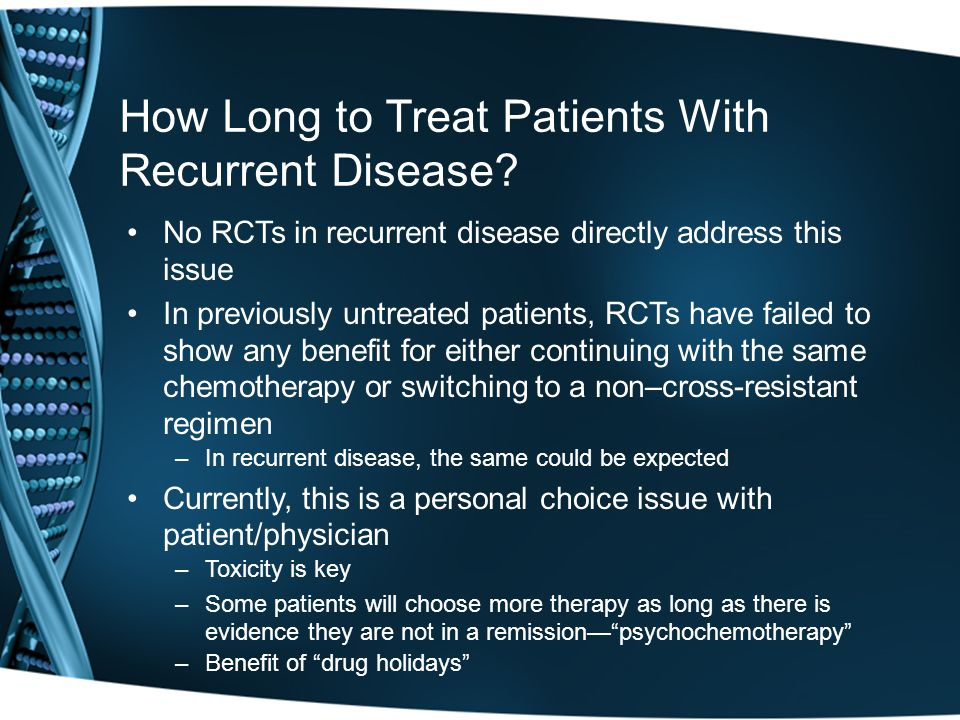How Long to Treat Patients With Recurrent Disease.