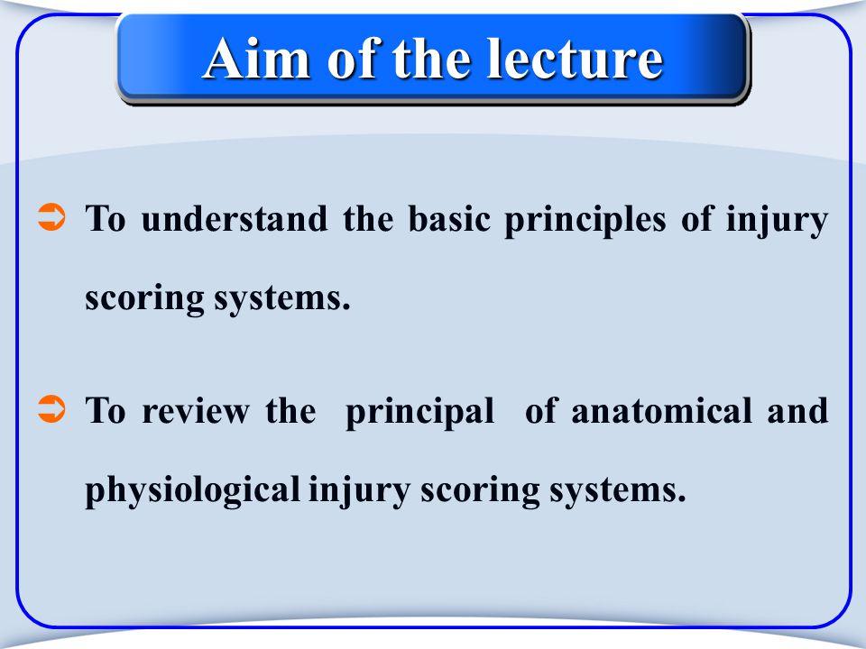Physiological (help determining prognosis) Revised Trauma Score (RTS). Glasgow Coma Score (GCS).