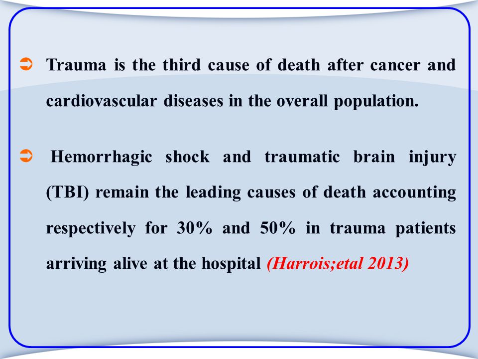 Severity assessment in trauma patients is mandatory.