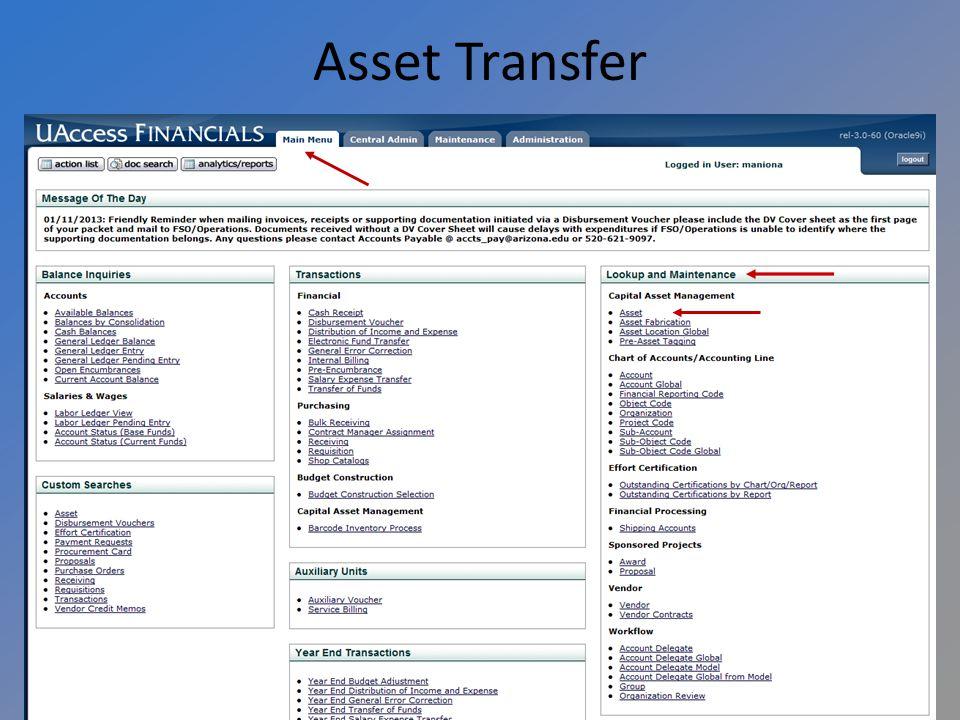 Asset Transfer