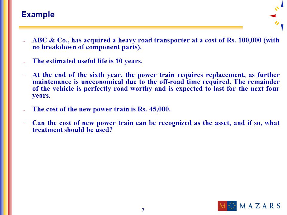 8 Solution - The new power train will produce economic benefits to the ABC & Co.; and - Cost of the power train can be measured reliably.