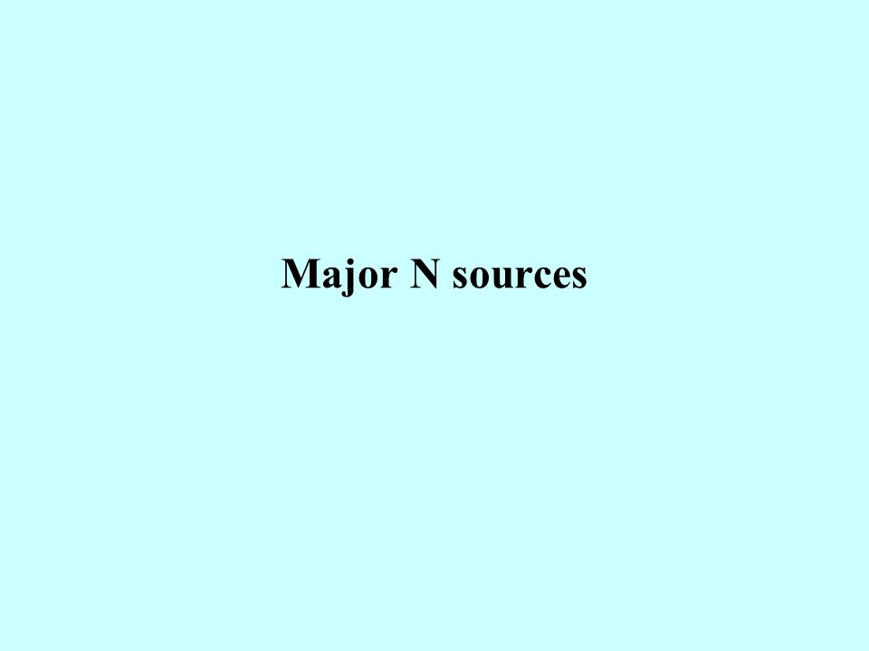 Major N sources